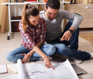 couple discussing property