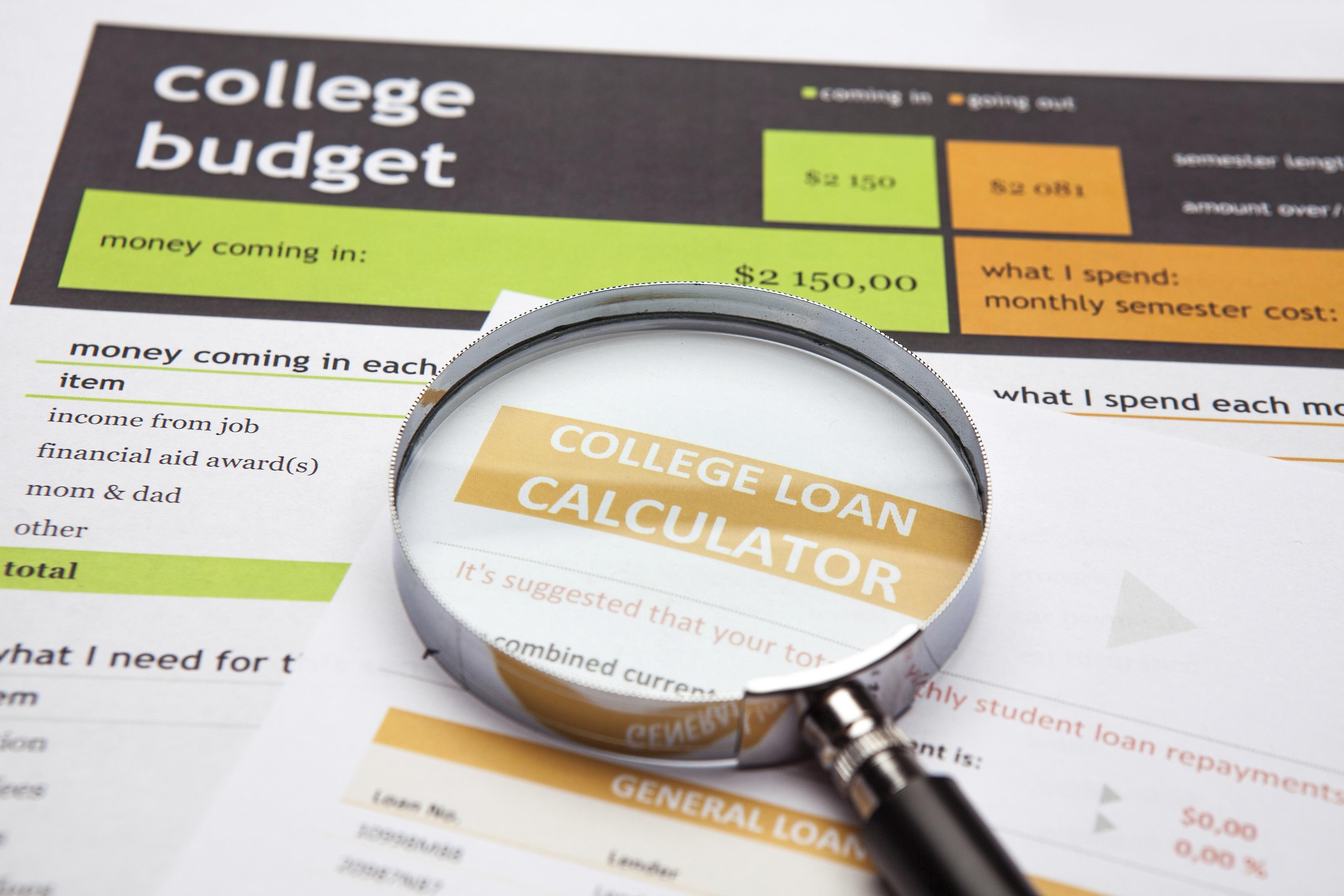 College Budget Paperwork