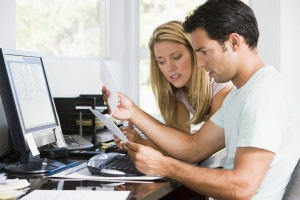 Couple Discussing Bankruptcy Issues