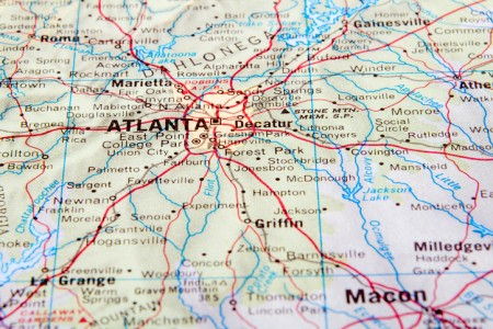 map of atlanta georgia
